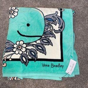 Vera Bradley Beach Towel - Fan Flowers Whale